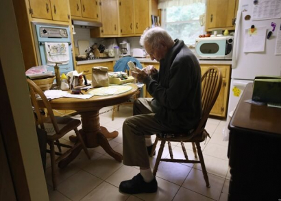 Elderly Man on Telephone