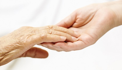 Dementia Care Holding Hands