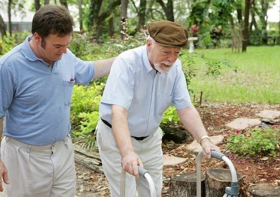 Caergiver and Elderly Man