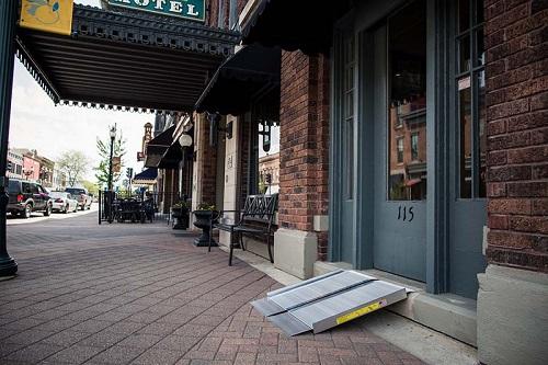 Portable Ramp on sidewalk